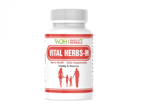 Vital-Herbs M Ayurvedic Medicine for Men's Sexual Power and Stamina in India.